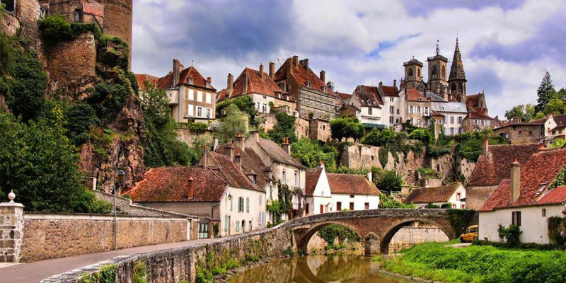 medieval villages amongst the brooding landscapes of bourgogne-franche-comté