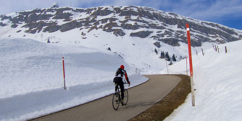 skiing and cycling